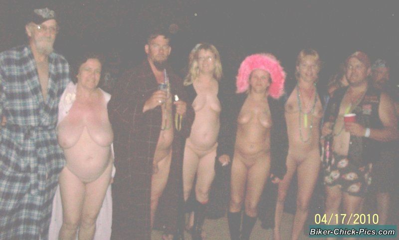 Biker Party Naked