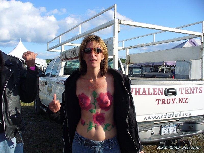 chick on harley