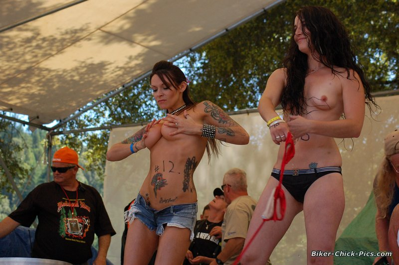 Commit wet t shirt contest biker babes