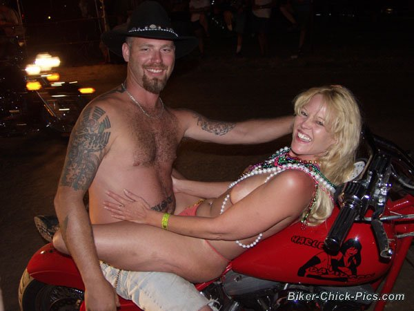 Motorcycle adult rally parties are