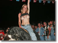 Biker Babes Topless Bull Riding