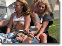 25 pictures, Harley Rendezvous Naked Biker Chicks